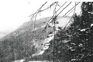 Die Skiabfahrt am Grünberg