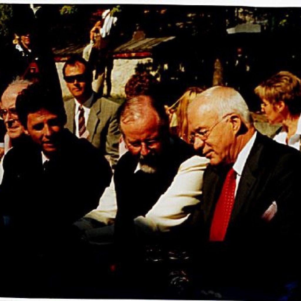 Bgm. Schaber, P. Augustin, Herwig v. Staa