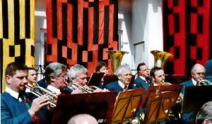 Flügelhörner: v.l.: Hansjörg Ennemoser, Herbert Ennemoser, Pepi Schaller Pabst Hubert, Franz Schweig!, Bernhard Malaun